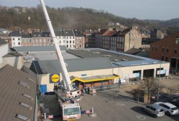 Lidl à Verviers – Rénovation étanchéité d'une toiture plate – 1250 m²