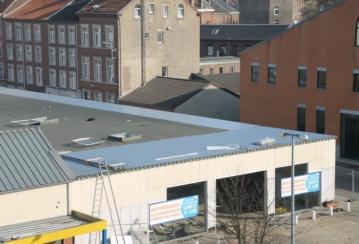 Lidl à Verviers – Isolation et étanchéité d'une toiture plate – 960 m²