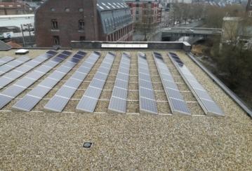 Rox Immo s.a. à Verviers – Isolation et étanchéité d'une toiture plate – 1400 m²